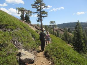 Day Hikers on the Trail to Penner Lake